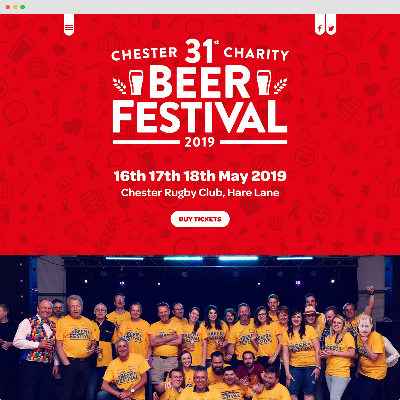 Chester Charity Beer Festival Website Design