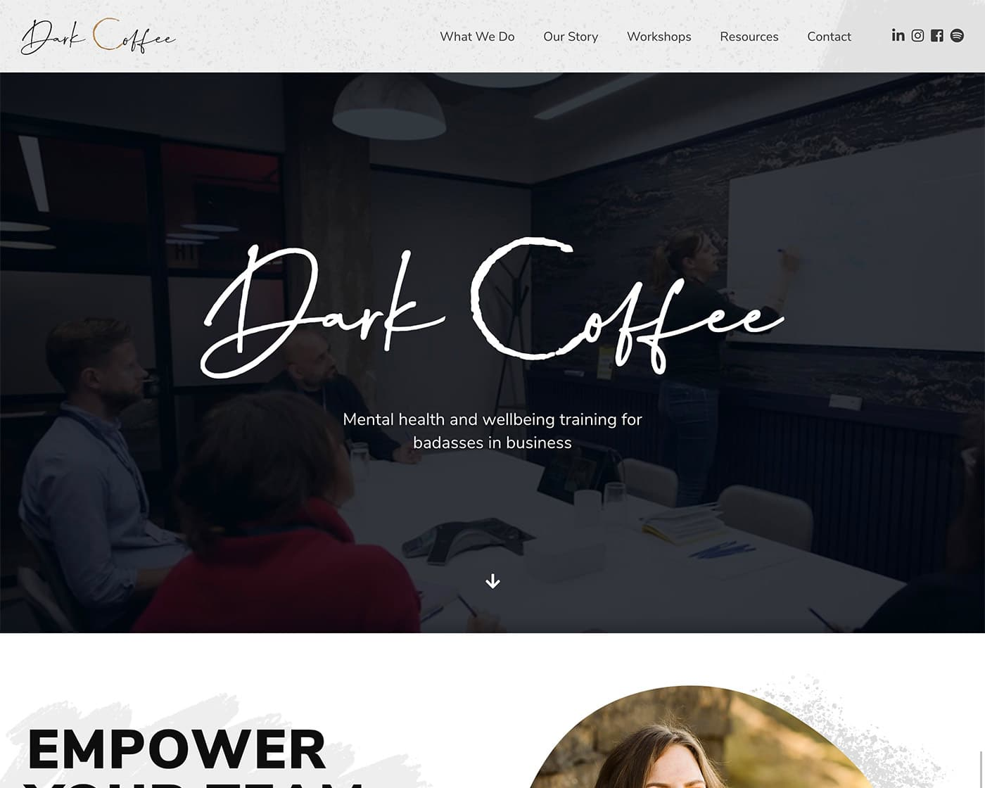 Dark Coffee Website by Abigail Sinclair