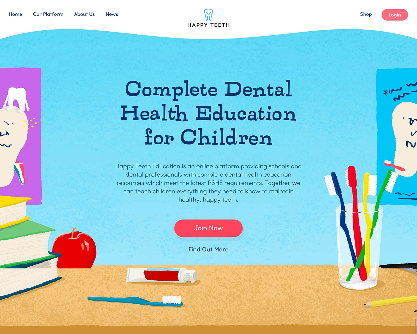 Happy Teeth Education Website by Abigail Sinclair