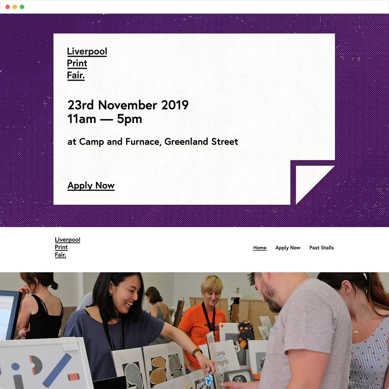 Liverpool Print Fair - Website design by ABigail Sinclair