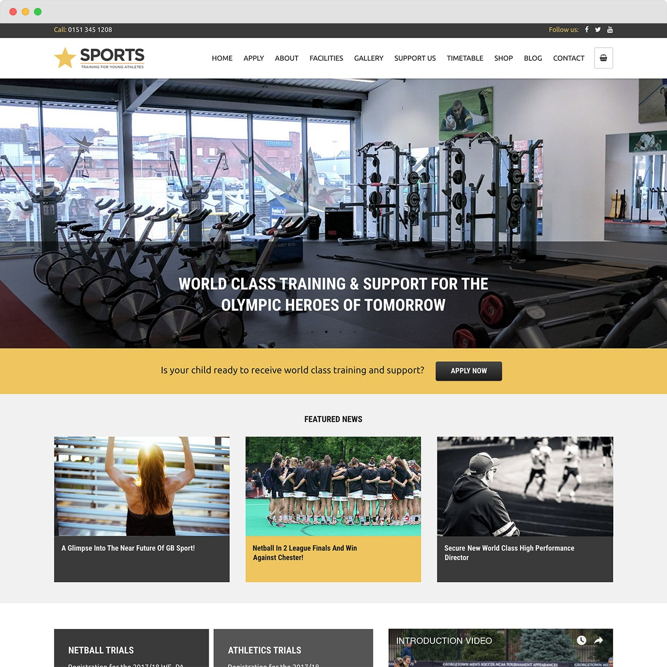 Sports Academy Website by Abigail Sinclair